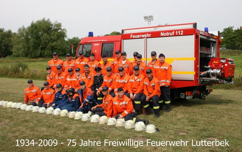 Mannschaftsfoto FF-Lutterbek